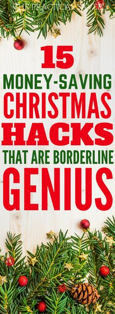 This has the best money saving ideas on Christmas Hacks! Whether you are on a frugal living state this holiday season, or want to save money or earn extra money, you'll find the ideas on Christmas saving plan or Christmas saving tips. You'll also find Christmas decorations, Christmas budget gifts, Christmas savings plan, and others. Definitely pinning this!!!