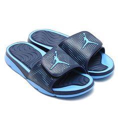 32fe433fd6543b Nike Jordan Hydro 5 Mens 820257-407 Varsity Blue Mid Navy Slide Sandals  Size 10