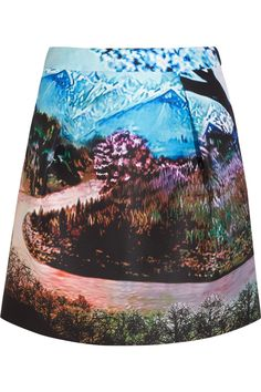Multicolored printed twill Pleated, side slit pockets, fully lined Concealed zip fastening along back polyester; Pleated Mini Skirt, Mini Skirts, Mary Katrantzou, Autumn Fashion, Women's Fashion, Print Patterns, Casual, Style Inspiration, Creative Inspiration