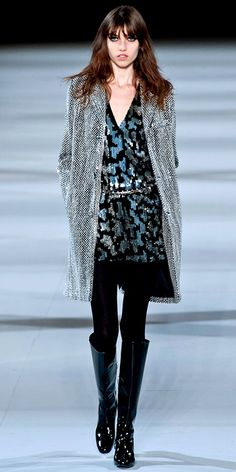 Runway Looks We Love: Our 100 Favorite Looks from London, Milan, and Paris Fashion Week Fall/Winter 2014 - Saint Laurent: Paris from #InStyle
