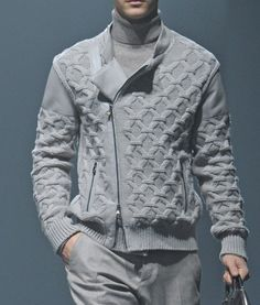 DecoriaLab : Cornelliani Fall 2013 Details...monochromatic grey menswear