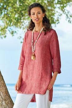 Women Sorbetti Linen Tunic from Soft Surroundings