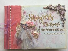 Wonderful inspo for a guest registry book! Created using FabScraps C105 Memory Lane collection.
