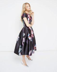 Ethereal Posie full skirt - Black | Skirts | Ted Baker UK