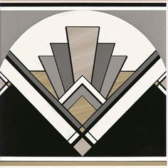 Love this pattern - Art Deco inspired patterns are huge at the moment, thanks to The Great Gatsby. Bring the clean lines and bold symmetry into your home. Art Deco fan tile by Original Style. Art Deco Decor, Casa Art Deco, Arte Art Deco, Art Deco Tiles, Motif Art Deco, Art Deco Design, Wall Tiles, Tile Art, Art Deco Wall Art