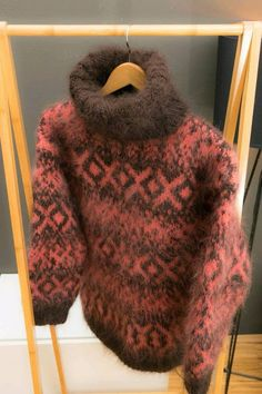 Handgestrickte Pullover, Roll Neck Jumpers, Thick Sweaters, Mohair Sweater, Sweater Outfits, Lana, Knitwear, Turtle Neck, Mens Fashion