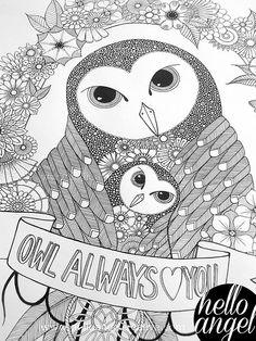 Owl Love WIP1   by Hello Angel Creative