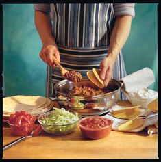 Tacos are a go-to weeknight meal and this skillet recipe is quick, easy, and will save you from the sodium found in packaged taco seasoning. Mexican Dishes, Mexican Food Recipes, Dinner Recipes, Mexican Meals, Dinner Ideas, Quick Ground Beef Recipes, One Skillet Meals, Skillet Recipes, Ground Beef Tacos