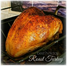 Best Thanksgiving & Holiday Roast Turkey (with Make-Ahead Instructions!) - X-mass - rezepte Cook Turkey In Oven, Slow Cooker Turkey, Cooking Turkey, Turkey In Roaster Oven, Roaster Oven Recipes, Cooking Ham, Turkey Breast Recipe Oven, Roast Turkey Breast, Turkey Baste Recipe