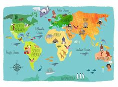 Cute World Map Wallpaper Fresh Inspiration Hand Drawn Maps Co And World Geography Map, World Map Wallpaper, Map Painting, Country Maps, Map Design, Travel Maps, Travel And Leisure, Map Art, Cool Pictures