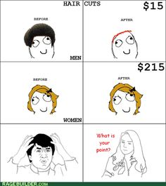 (rage comic,hair,boy,girl,funny)