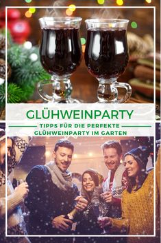 Party in winter outdoors: celebrate outdoors despite wintry temperatures: no problem thanks to radiant heaters, fire bowls and the right drinks. With our tips, your mulled wine party will be a success. Winter Party Foods, Winter Party Themes, Winter Parties, Winter Theme, Holiday Parties, Parties Kids, Parties Food, Schnee Party, Wein Parties