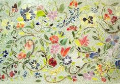 Very pretty mosaic tile piece!  Maybe I'll try my hand at mosaic in the future.