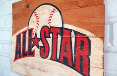 All-Star Baseball Sign by VintageSignDesigns on Etsy