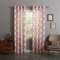 Aurora Home Morrocan 84-inch Semi-Sheer Curtain Panel Pair