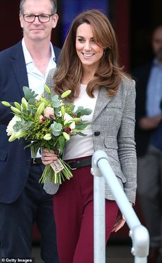 Kate Middleton joins Prince William for London charity event Duchess Kate, Duke And Duchess, Checked Blazer, Charity Event, Princess Charlotte, Princess Diana, Prince William And Kate, Celebrities, Women