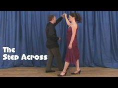 The Step Across - Beginners Modern Jive Dance Move. - YouTube