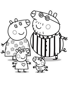 peppa pig family coloring pages Nick Jr Coloring Pages, Peppa Pig Coloring Pages, Family Coloring Pages, Cartoon Coloring Pages, Christmas Coloring Pages, Colouring Pages, Printable Coloring Pages, Coloring Pages For Kids, Coloring Books