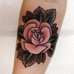 Beautifully done rose at Black Anchor Tattoo