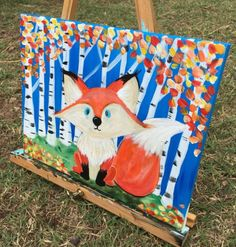 Fall tree painting for kids art projects 21 Ideas Animal Art Projects, Fall Art Projects, Classroom Art Projects, Art Classroom, Fall Tree Painting, Painting For Kids, Diy Painting, Art For Kids, Children Painting