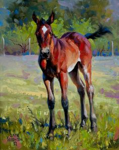the youngster ~ Horse painting by Jack Sorenson