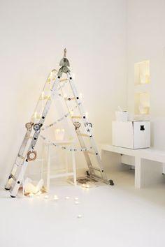 Ladder As Christmas Tree