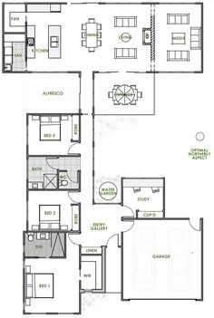 The Triton offers the very best in energy efficient home design from Green Homes Australia. Take a look at the floor plan here.
