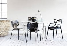 Mix and match your dining chairs to create interest - the Kartell Masters Chair really stands out for us http://www.nest.co.uk/product/kartell-masters-chair