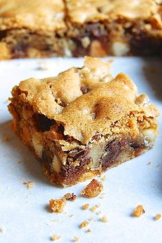 Chewy Chocolate Chip Cookie Bars Recipe