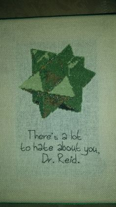 Front of a quote/star puzzle from Criminal Minds