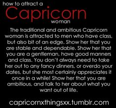 Questions to ask a capricorn woman