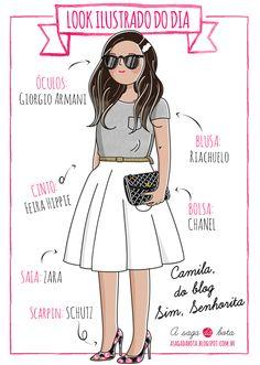 Outfit of the day illustration Camila Gomes - Blog Sim, senhorita