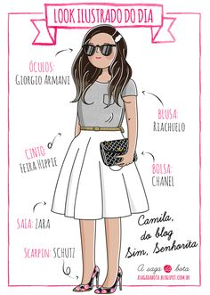 Outfit of the day illustration Camila Gomes - Blog Sim, senhorita