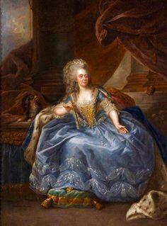 Adelaide de Francia,una de las tías de Luis XVI que a la llegada de María Antonieta, a Versalles, ella y sus hermanas ,pasaron a un segundo lugar en la corte , lo que nunca le perdonaron --por Jean Ernest Hensios.