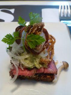 Roast beef smørrebrød from Aamann's in Copenhagen
