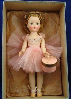 1950'S # 1550 MADAME ALEXANDER MARGOT BALLERINA IN ORIGINAL BOX