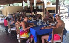 Still with plenty of time off before joining Real Madrid for the 2016/17 season, Cristiano Ronaldo shared a photo with his fans of a family meal in Ibiza, Spain.
