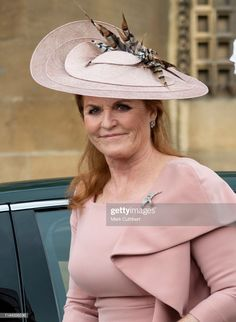 Sarah Ferguson, Duchess of York attends the wedding of Lady Gabriella Windsor and Mr Thomas Kingston at St George's Chapel, Windsor Castle on May 2019 in Windsor, England. (Photo by Mark Cuthbert/UK Press via Getty Images) Sarah Ferguson, Sarah Duchess Of York, Duke And Duchess, Eugenie Of York, Hm The Queen, Duke Of York, Prince Andrew, Royal Weddings, Princess Mary