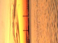 Beautiful  sunset on Jekyll island.