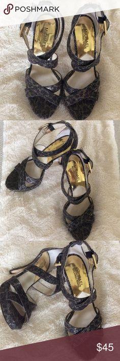 Gorgeous Heels by Michael Kors  (minus the fur) Perfect high heels by Michael Kors wore once for a wedding size 7 Michael Kors Shoes Heels