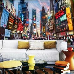 beibehang 3d papel de paede KTV rice wine dessert cafe personalized theme wall paper streets of New York 3d mural wallpaper #Affiliate