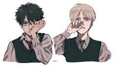 [draco malfoy x harry potter] Harry Potter Fan Art, Harry Potter Couples, Harry Potter Ships, James Potter, Harry Potter Universal, Harry Potter Fandom, Harry Potter World, Hogwarts, Slytherin