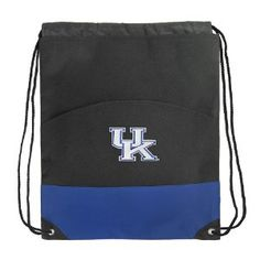 University of Kentucky Backpack Bag Drawstring Royal UK Wildcats Logo Draw String Back Pack - For Boys Girls Students or Adults (Apparel) For Private Sale Only at JustSell.me.  Use the power of your social connections to Just Sell your old or unwanted stuff.