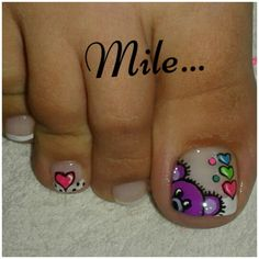 Unas feet Pedicure Designs, Pedicure Nail Art, Toe Nail Designs, Toe Nail Art, Toe Nails, Acrylic Nails, Wonder Nails, Cruise Nails, Nail Art For Kids