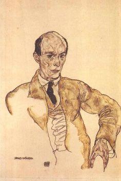 Портрет Арнольда Шонберга. Эгон Шиле. 1917.