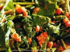 Hot Indonesia Recipes - Kangkung Bumbu Kemiri Pedas