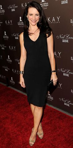 Look of the Day › July 23, 2010 WHAT SHE WORE Davis added Neil Lane diamond and onyx pieces to a classic LBD for the Hollywood launch of the jeweler's bridal collection.