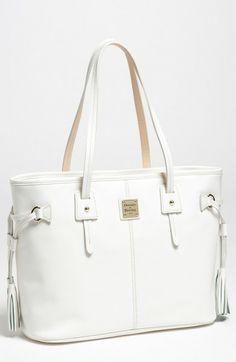 c9173e29712e Dooney   Bourke white leather Davis Tassel Shopper Tote Bags Online