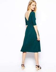 Enlarge ASOS Midi Dress With Wrap Back