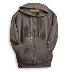 Good Dog - Muddy Paw-Prints - Zip Hoodie
